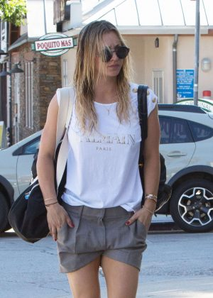 Kaley Cuoco after her workout in Los Angeles