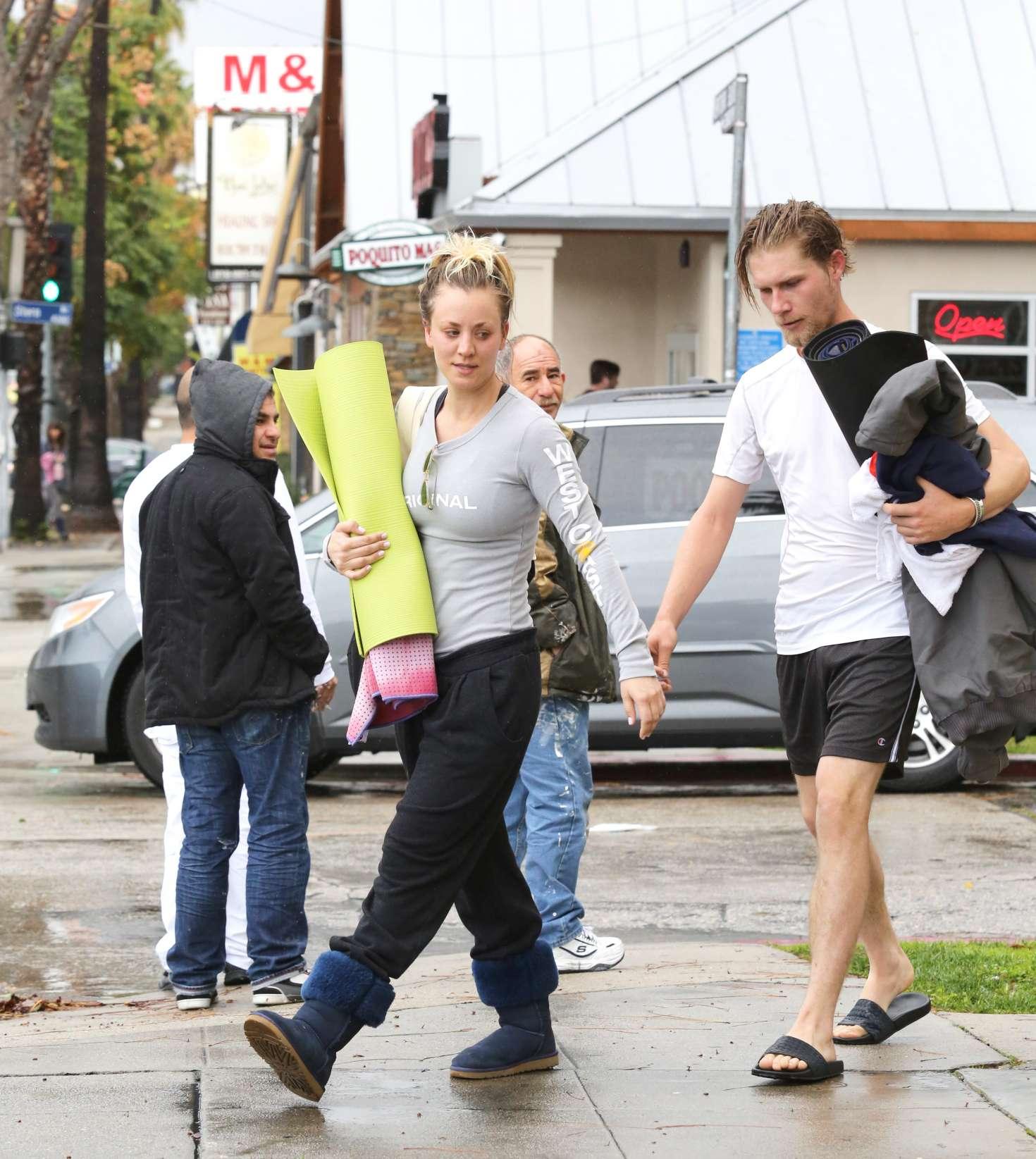Kaley Cuoco 2017 : Kaley Cuoco and boyfriend Karl Cook Leaves yoga class -13