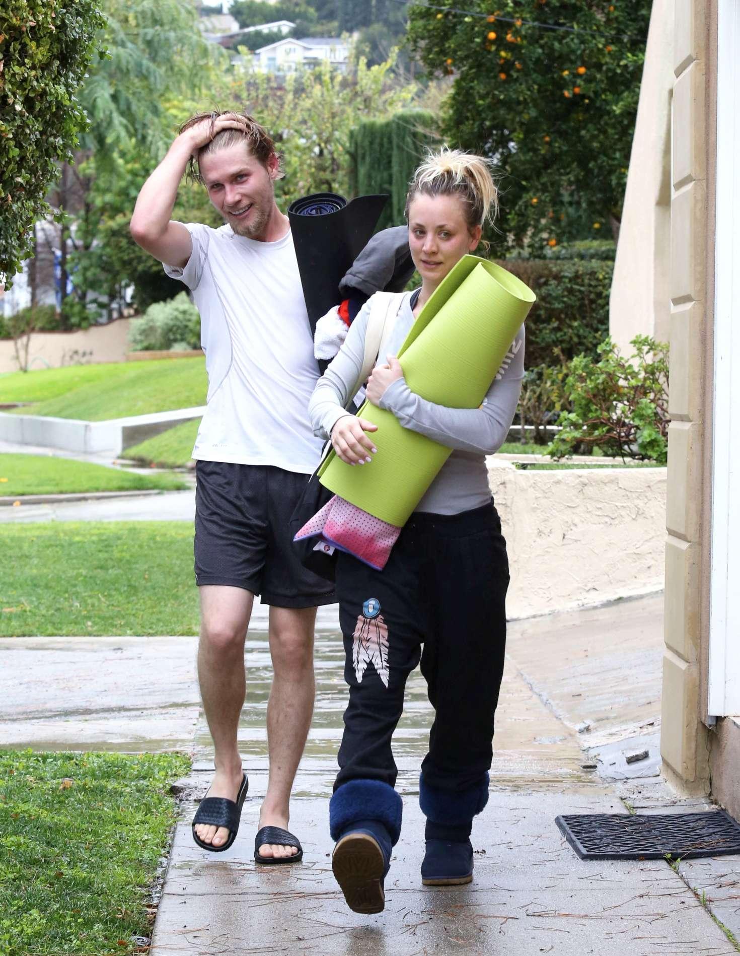 Kaley Cuoco 2017 : Kaley Cuoco and boyfriend Karl Cook Leaves yoga class -15