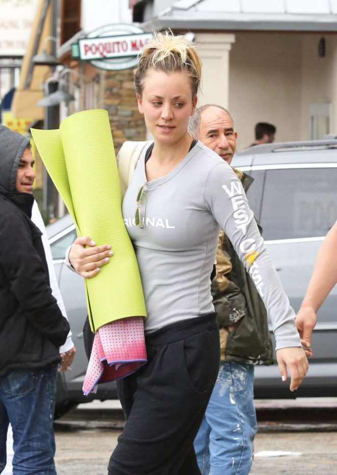 Kaley Cuoco and boyfriend Karl Cook Leaves yoga class -17