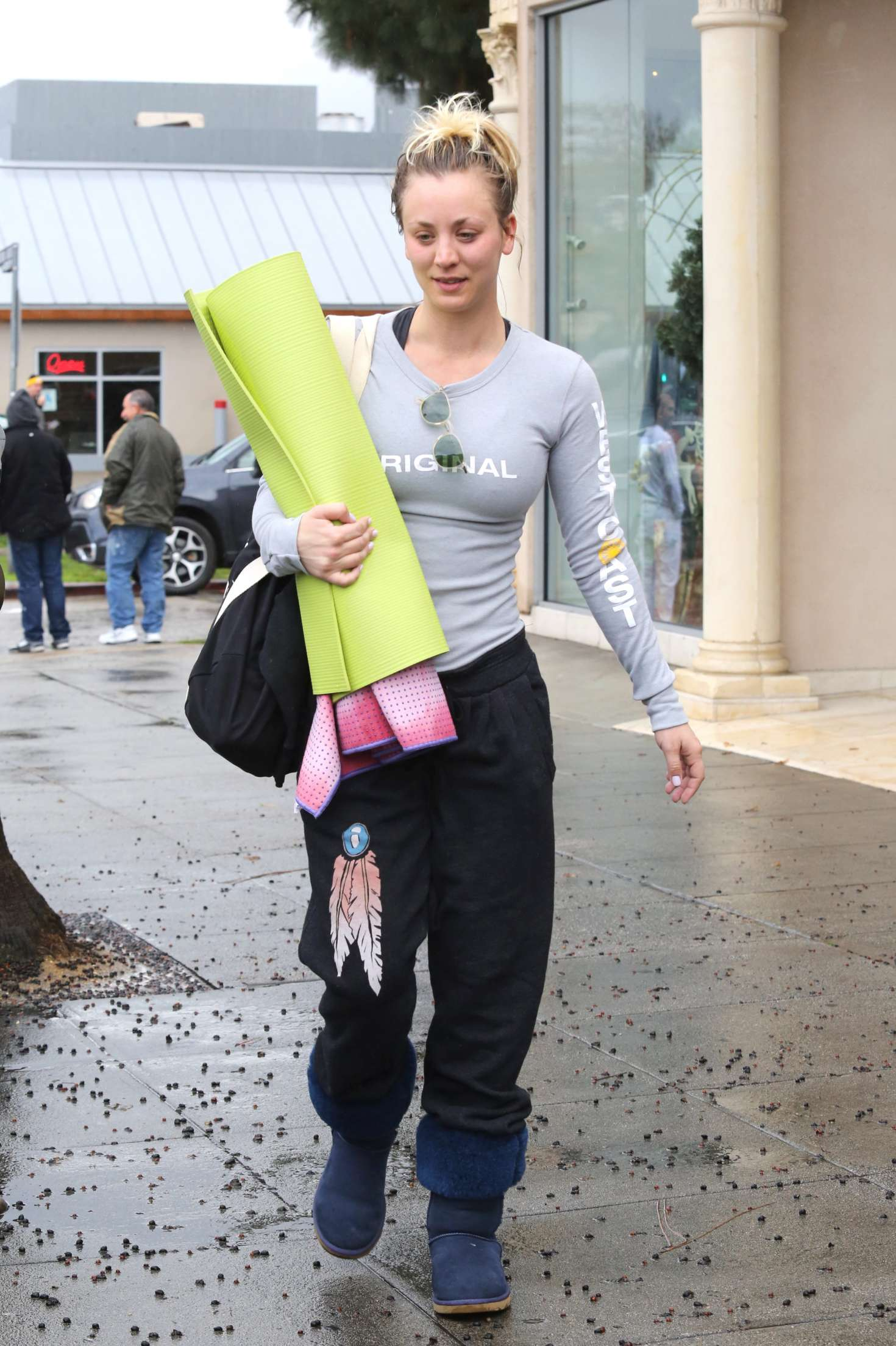 Kaley Cuoco 2017 : Kaley Cuoco and boyfriend Karl Cook Leaves yoga class -20