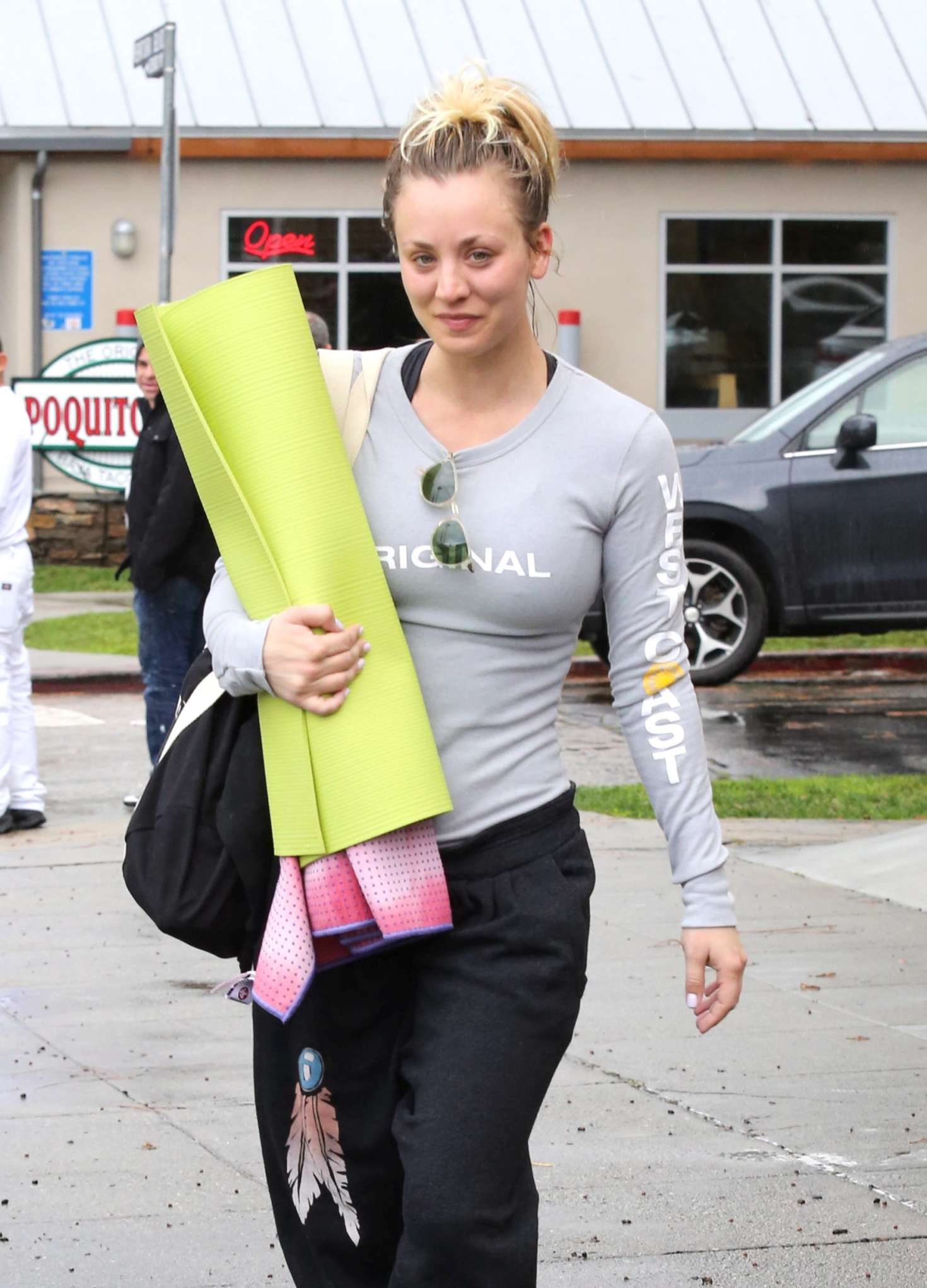Kaley Cuoco 2017 : Kaley Cuoco and boyfriend Karl Cook Leaves yoga class -22