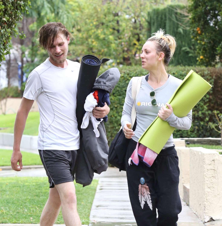 Kaley Cuoco 2017 : Kaley Cuoco and boyfriend Karl Cook Leaves yoga class -23