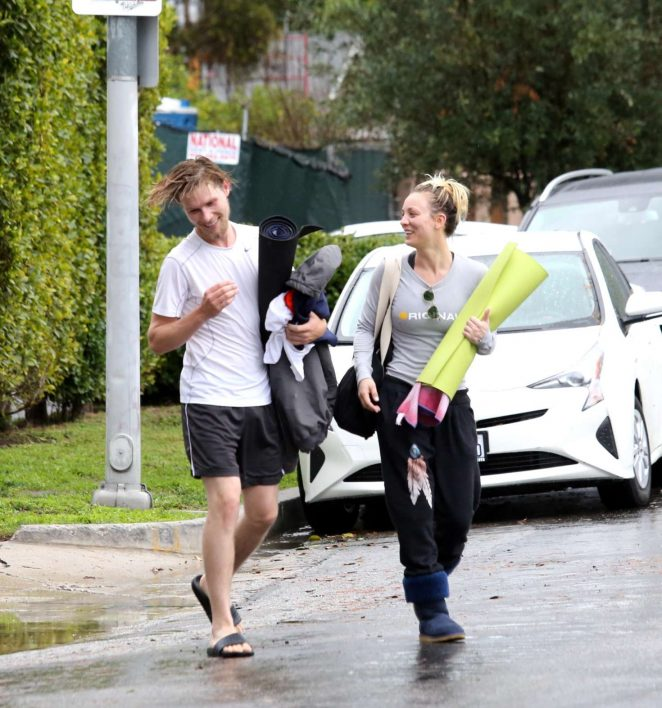Kaley Cuoco and boyfriend Karl Cook Leaves yoga class -26