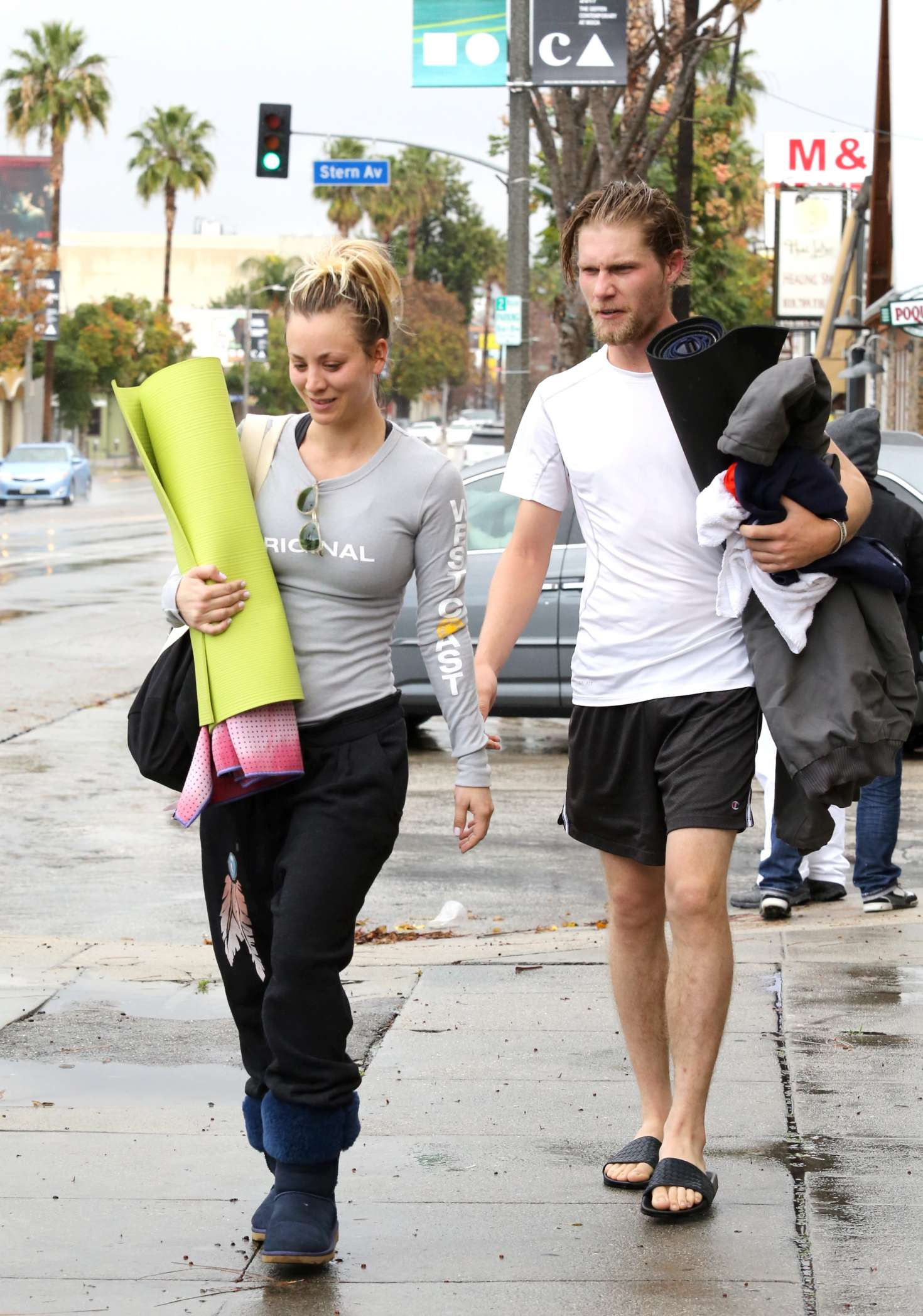 Kaley Cuoco 2017 : Kaley Cuoco and boyfriend Karl Cook Leaves yoga class -35