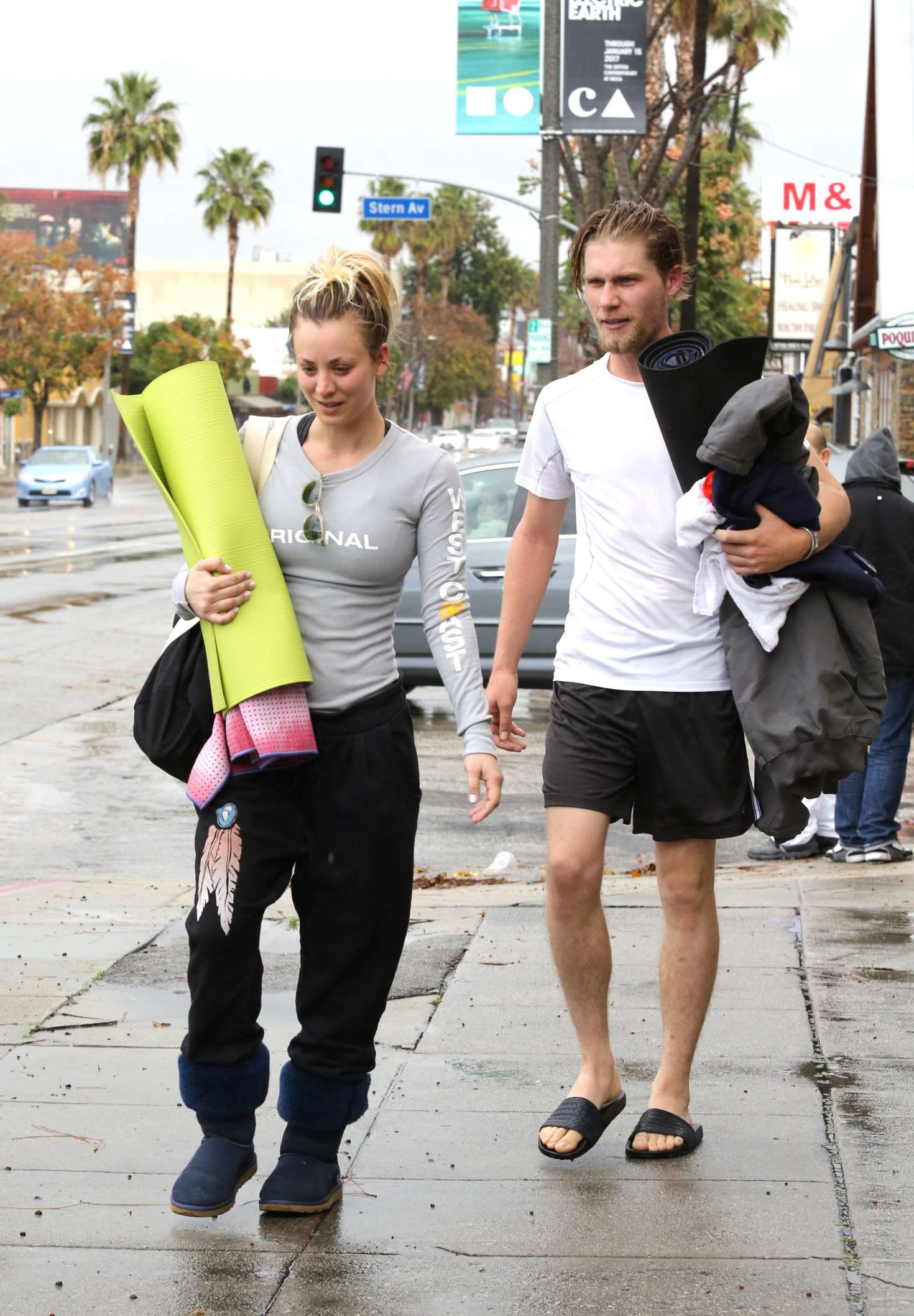 Kaley Cuoco 2017 : Kaley Cuoco and boyfriend Karl Cook Leaves yoga class -37
