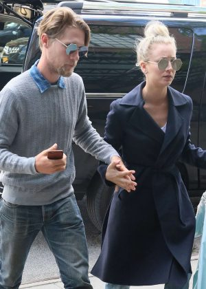 Kaley Cuoco and boyfriend Karl Cook out in New York