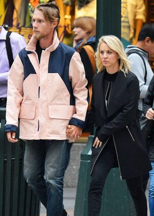 Kaley Cuoco and Karl Cook out in NYC