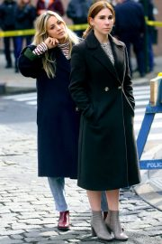 Kaley Cuoco and Zosia Mamet - 'The Flight Attendant' set in NYC