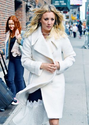 Kaley Cuoco - Arrives at The Colbert Report in New York