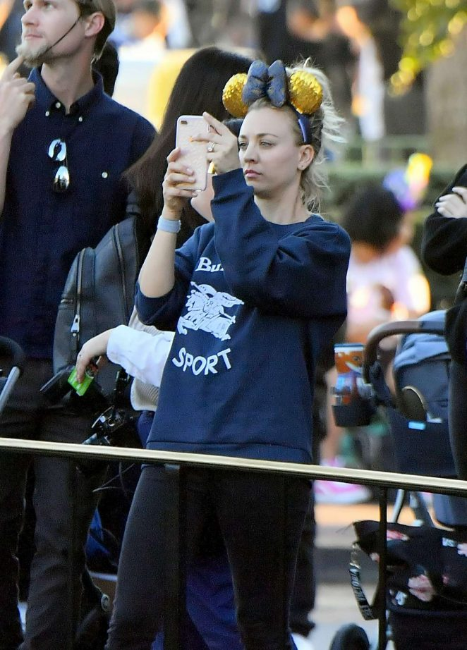 Kaley Cuoco at Disneyland in Anaheim