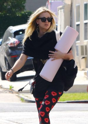 Kaley Cuoco at Power Core Yoga in Studio City