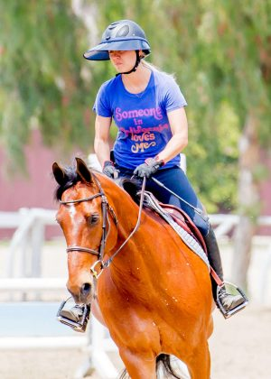 Kaley Cuoco: Horseback Riding -01