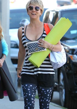Kaley Cuoco in Leggings Out in Brentwood