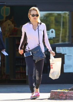 Kaley Cuoco in Leggings out in Los Angeles