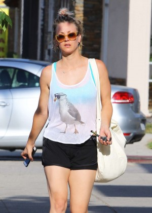 Kaley Cuoco in Shorts out in Sherman Oaks