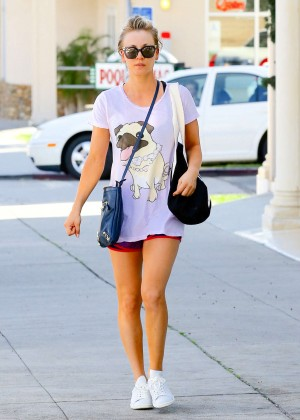 Kaley Cuoco in Shorts out in Los Angeles