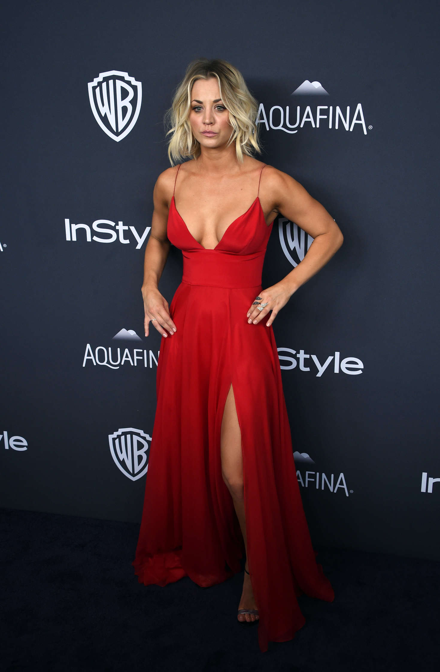 Kaley Cuoco Instyle And Warner Bros 2016 Golden Globe