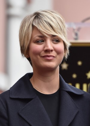 Kaley Cuoco - Jim Parson's Hollywood Walk of Fame Ceremony