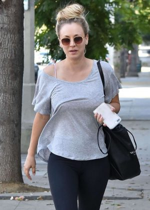 Kaley Cuoco - Leaving a nail salon in Sherman Oaks