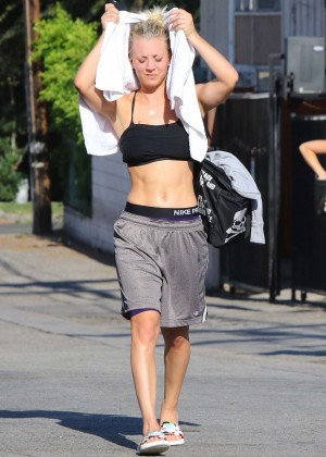 Kaley Cuoco in Tank top Leaving a yoga class in Studio City