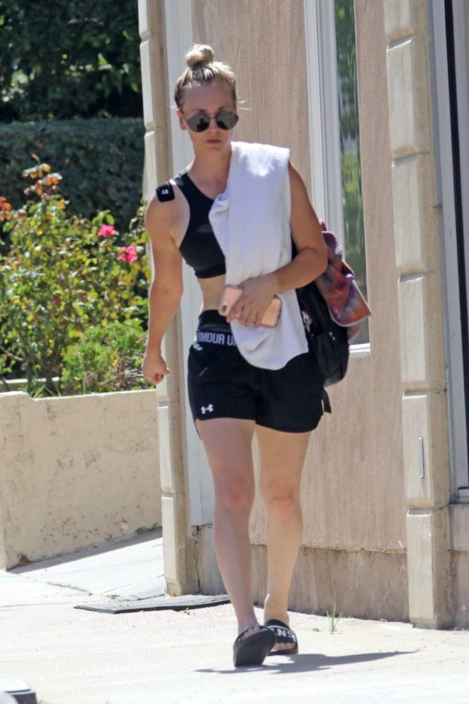 Kaley Cuoco - Leaving Her Yoga Class in LA