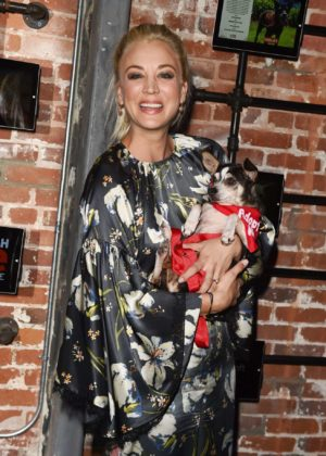 Kaley Cuoco - Much Love Animal Rescue Spoken Woof at Microsoft Lounge in Italy