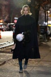 Kaley Cuoco on the set of 'The Flight Attendant' in NYC