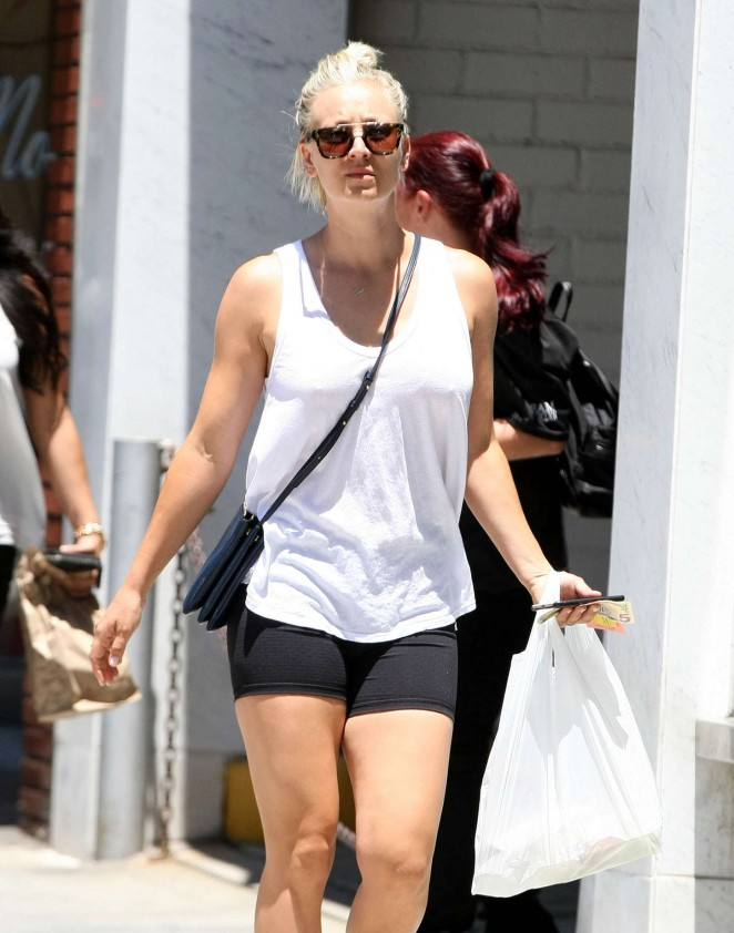 Kaley Cuoco in Black Shorts Out in Beverly Hills