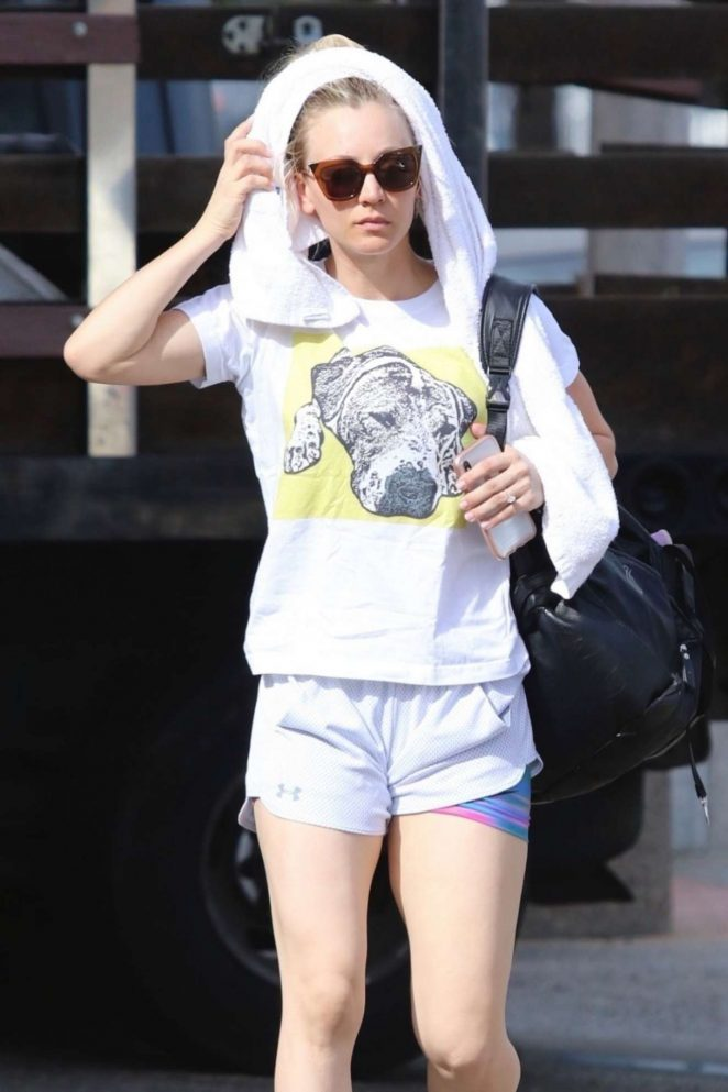 Kaley Cuoco - Out in Shorts in Sherman Oak