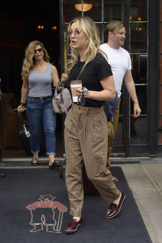 Kaley Cuoco 2019 : Kaley Cuoco – Seen outside The Bowery Hotel in NYC -02