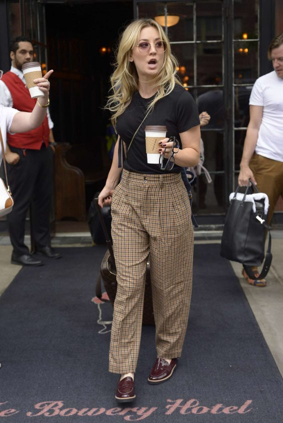 Kaley Cuoco 2019 : Kaley Cuoco – Seen outside The Bowery Hotel in NYC -05