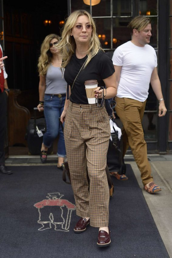 Kaley Cuoco - Seen outside The Bowery Hotel in NYC