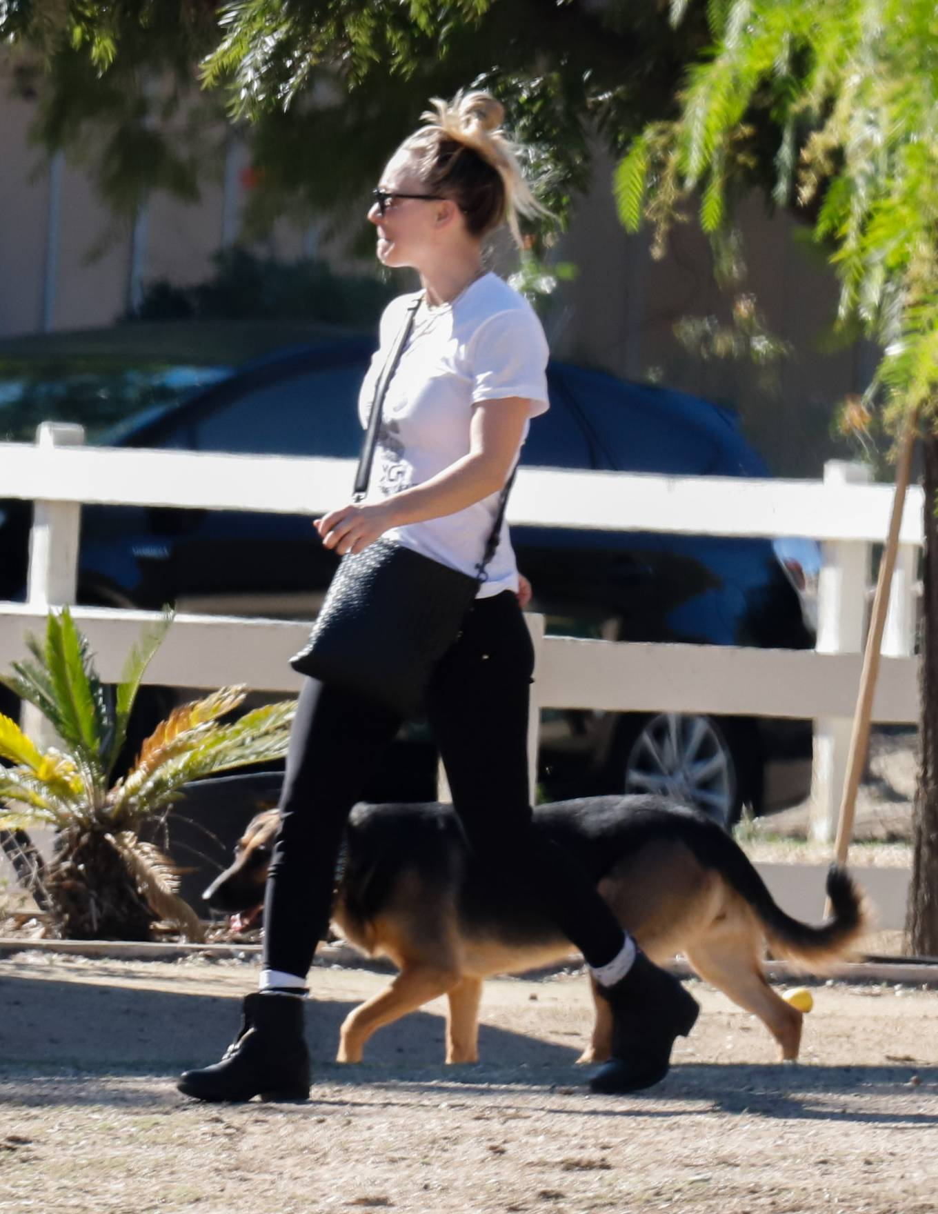 Kaley Cuoco - Seen while out for a walk in Los Angeles