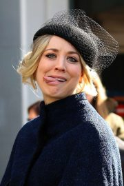 Kaley Cuoco - spotted fliming of 'The Flight Attendant' in NYC