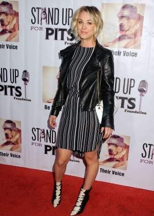 Kaley Cuoco - Stand Up For Pits Comedy Benefit in Hollywood