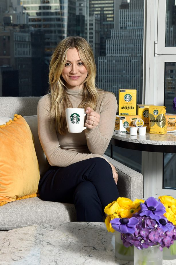 Kaley Cuoco - Starbucks 'Shine from the Start' Spring Campaign in NYC
