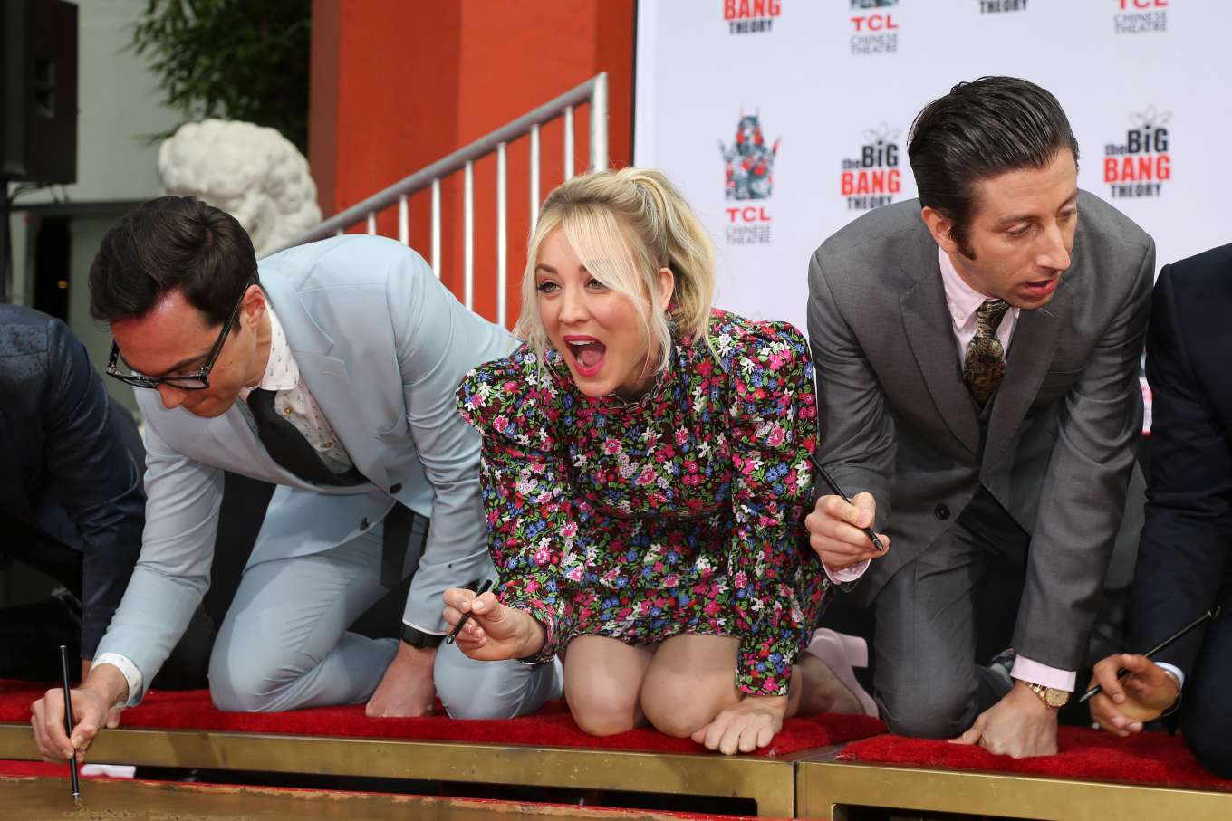 Kaley Cuoco - The Big Bang Theory handprint ceremony in Hollywood