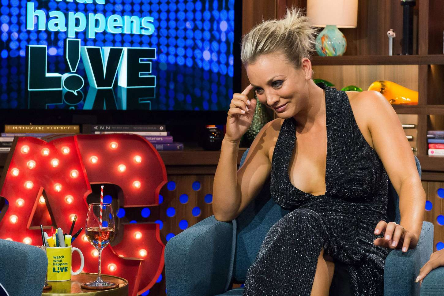 Kaley Cuoco Watch What Happens Live 04 Gotceleb