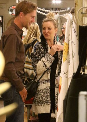 Kaley Cuoco with her fiance Karl Cook - Shopping for Valentine's Day in LA
