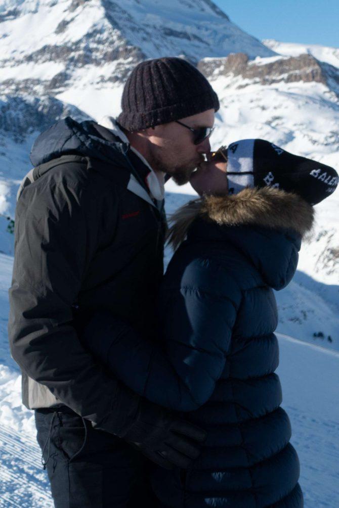 Kaley Cuoco with husband Karl Cook - Honeymoon in Zermatt