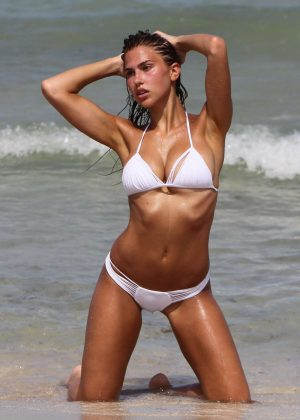 Kara del Toro in Bikini on the photoshoot in Miami