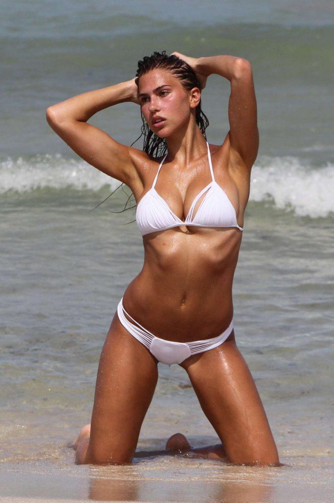 Kara del Toro in Bikini on the photoshoot in Miami