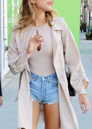 Kara Del Toro in Cut-offs out in Beverly Hills