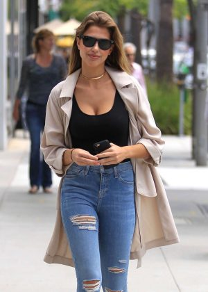 Kara Del Toro in Jeans out shopping in Beverly Hills
