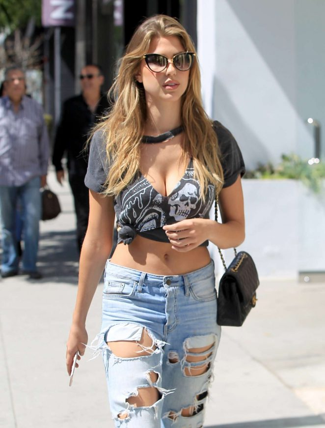 Kara Del Toro in Ripped Jeans out in Los Angeles