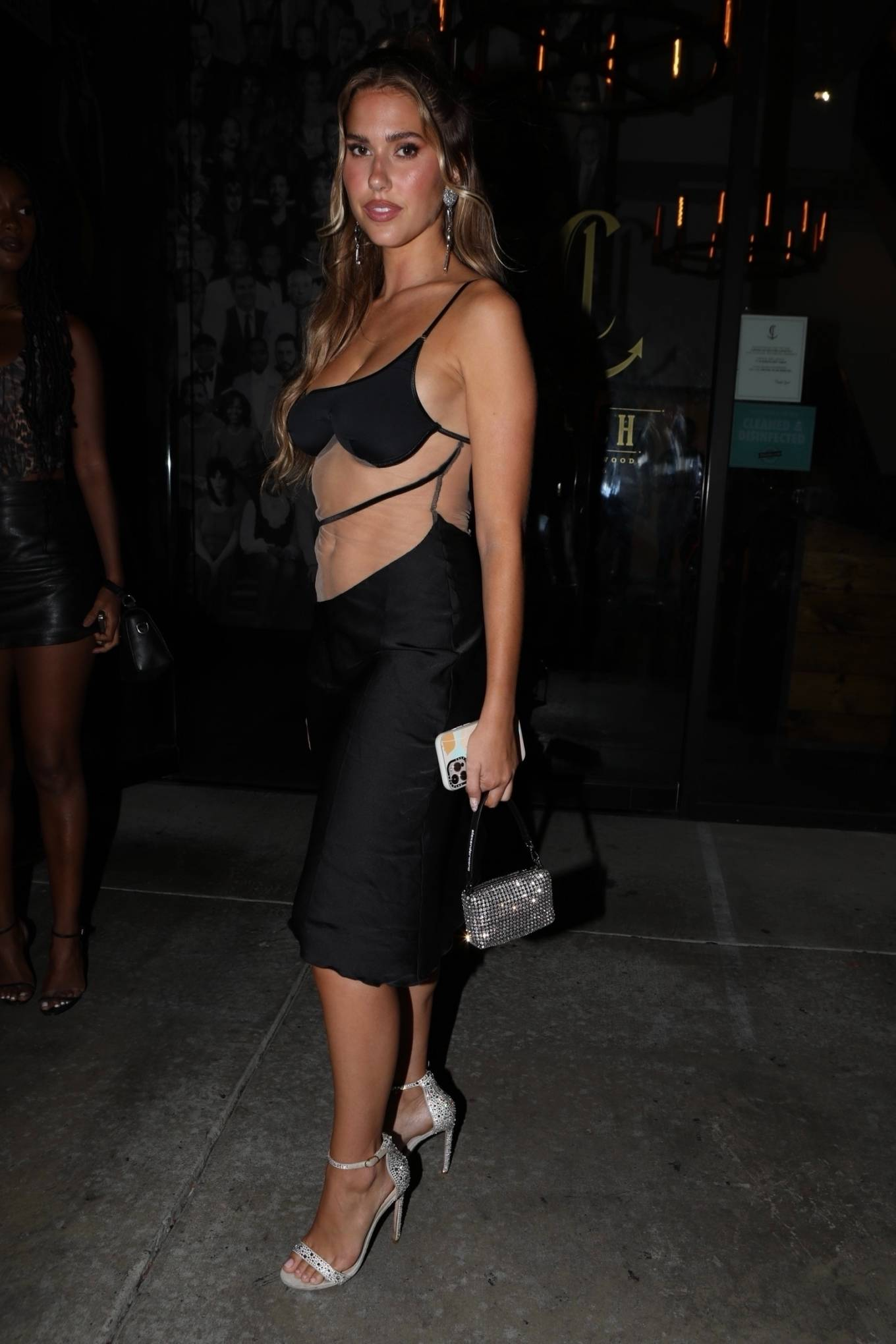 Kara Del Toro - Spotted in a black dress as she leaves Catch in West Hollywood