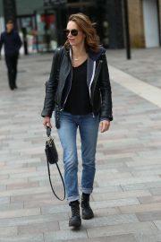 Kara Tointon - Exits Sunday Brunch TV Show in London