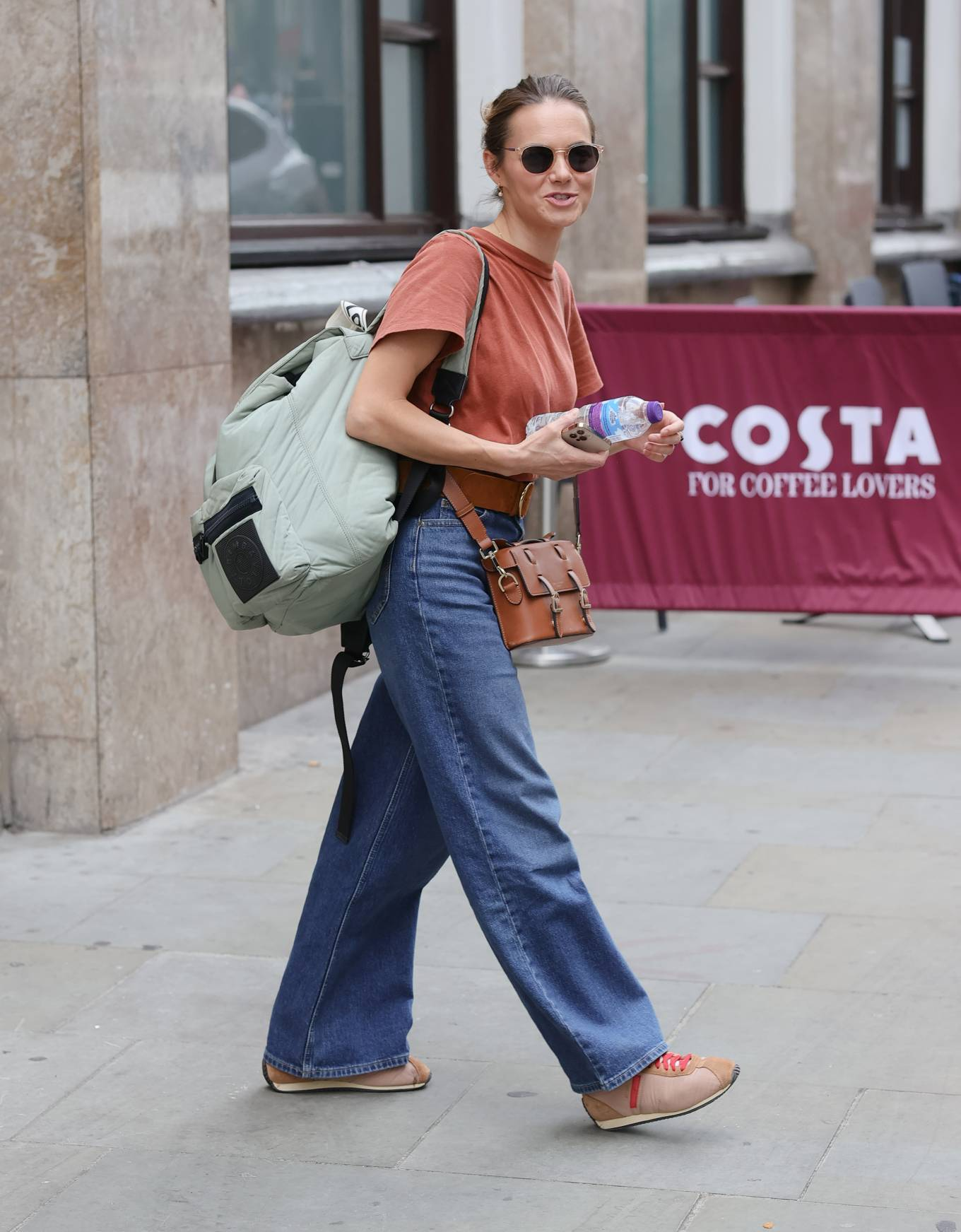 Kara Tointon 2021 : Kara Tointon – In flared denim pants stepping out in London-02