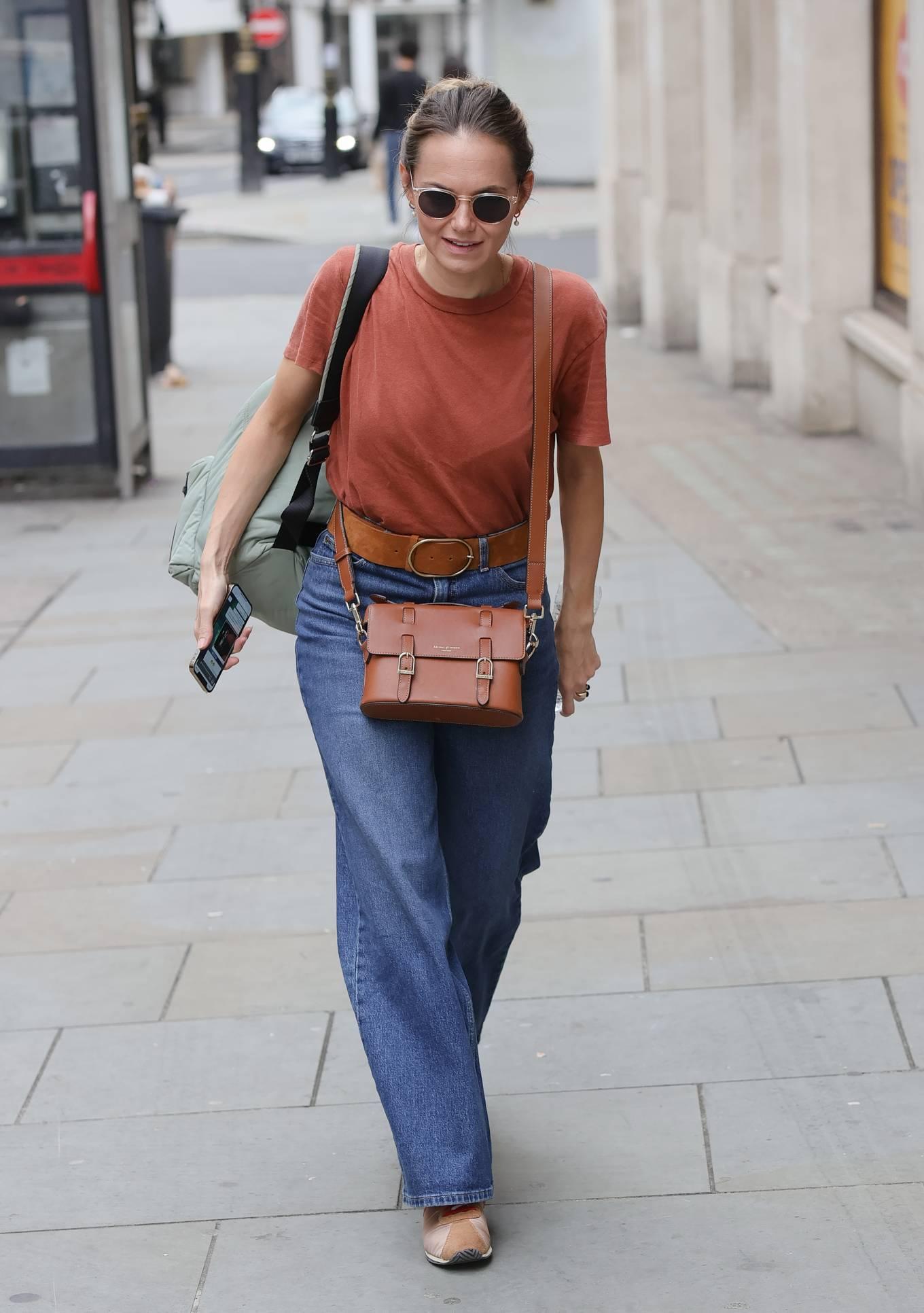 Kara Tointon 2021 : Kara Tointon – In flared denim pants stepping out in London-10